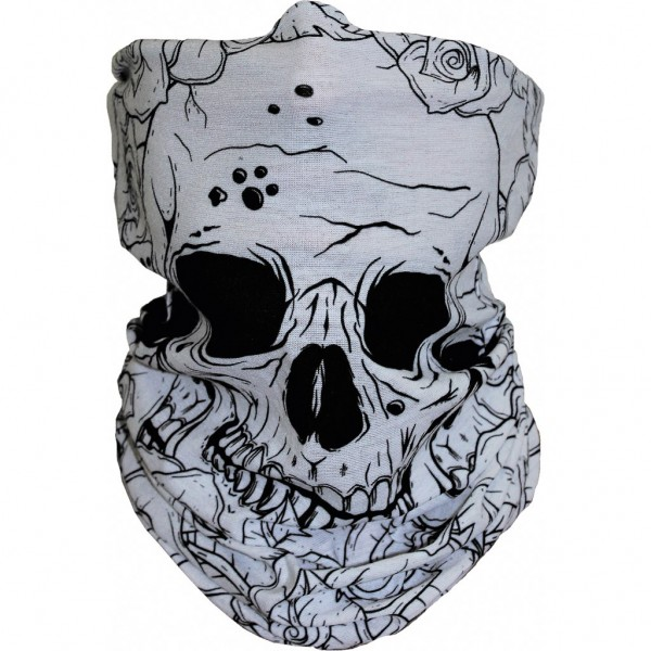 Neck Warmer Skull and Roses